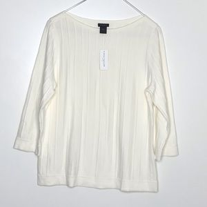NWT Ann Taylor factory 3/4 sleeve sweater top L